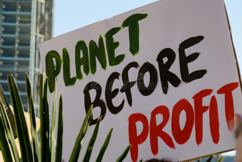 Szkolny strajk dla zmiana klimatu obrazy stock