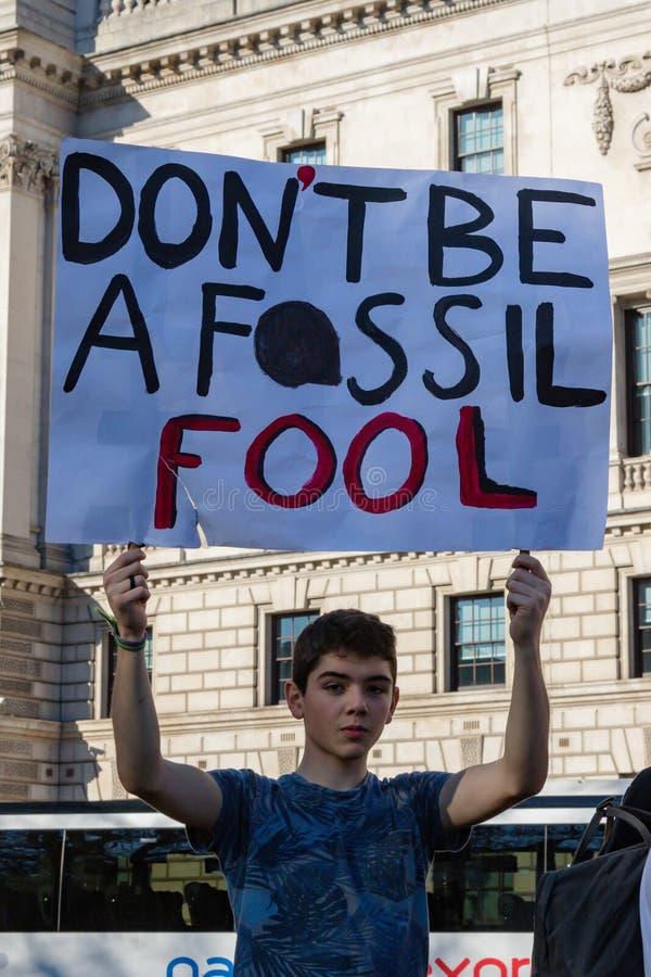 Szkolny strajk dla zmiana klimatu zdjęcie royalty free