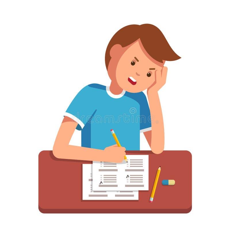 Szkolny studencki podsadzkowy out odpowiada egzaminu test ilustracji