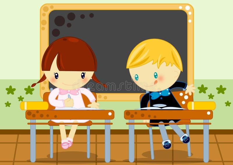 szkolny test ilustracja wektor