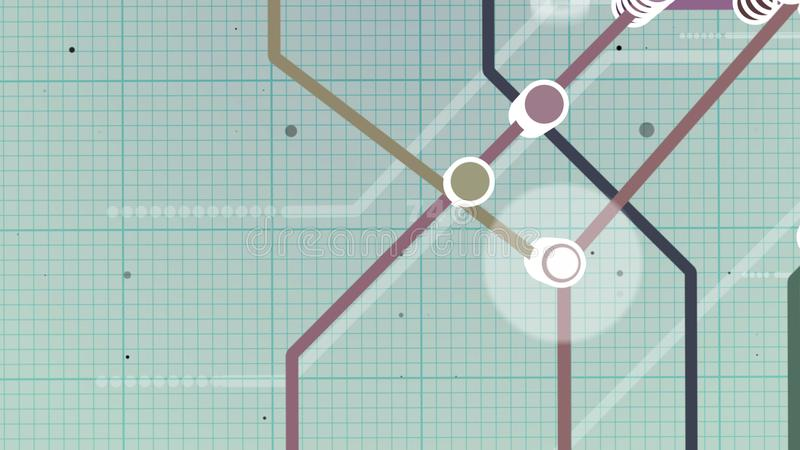 Szkolny typ metro mapa royalty ilustracja