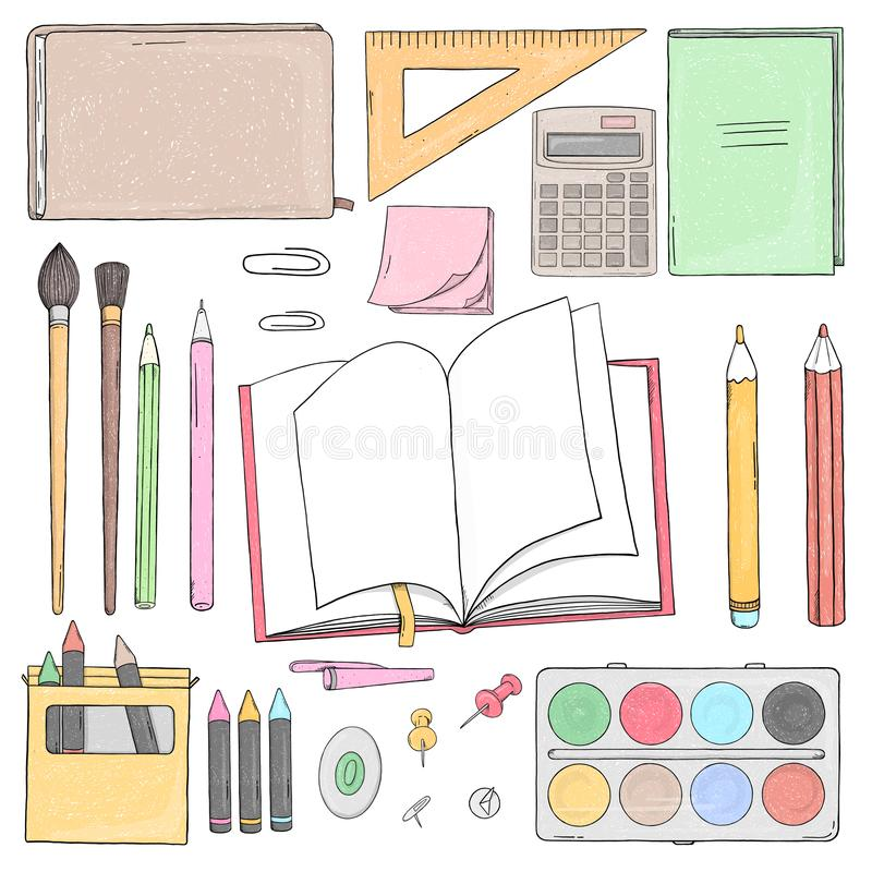 szkolny ustalony materia?y zdjęcia royalty free