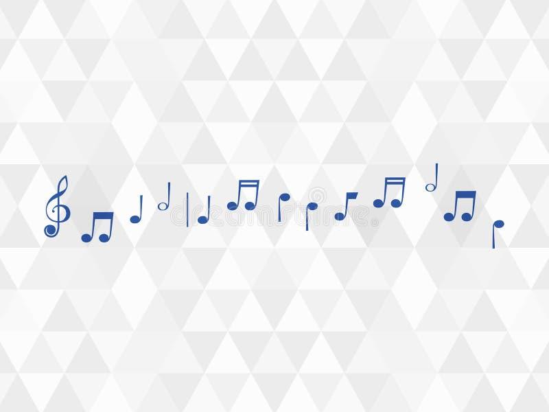 Szkotowa muzyka na klepce na białym tle z rhombus royalty ilustracja