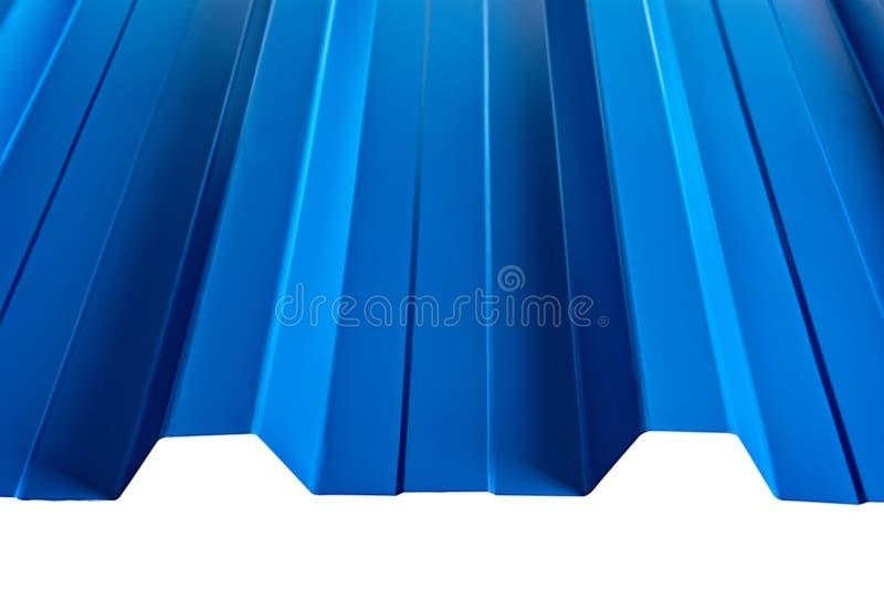 Szkotowego metalu profilu typ, nowożytny materiał dla dachu domy fotografia stock