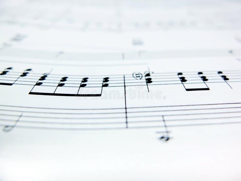 Szkotowej muzyki notatki fotografia royalty free