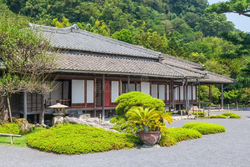 Szlachetna siedziba w Senganen ogródzie zdjęcie stock
