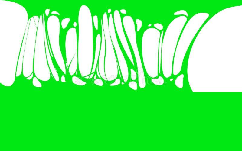 Szlamowy kleisty zielony sztandar, spittle, glut Rama straszny żywy trup, obcy szlamowy Kreskówki mieszkania szlamowy odosobniony ilustracja wektor