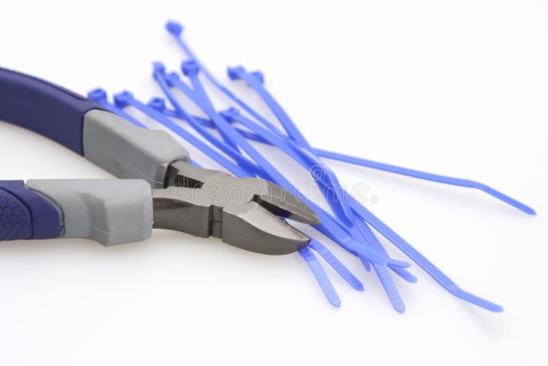 szlifierzu kablowi krawaty obrazy stock