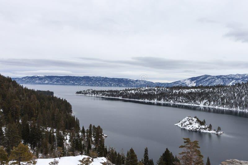 Szmaragd Podpalany Jeziorny Tahoe, ca obrazy royalty free