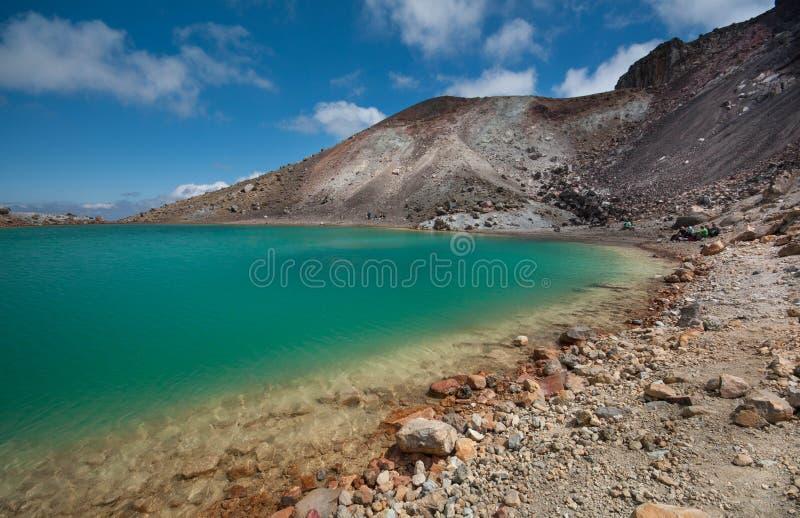 Szmaragdowi jeziora Tongariro skrzyżowanie zdjęcie royalty free