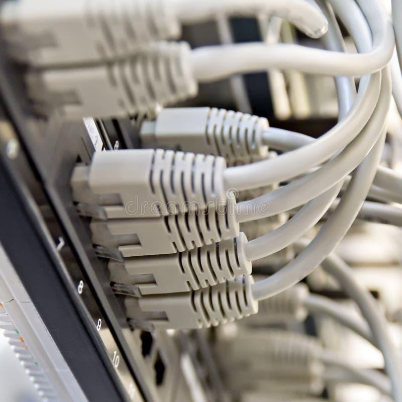sznurów szarość panelu łaty stojaka serwer zdjęcia royalty free