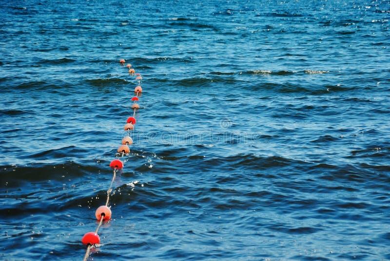 Sznurek ratunek pociesza na morzu obrazy royalty free