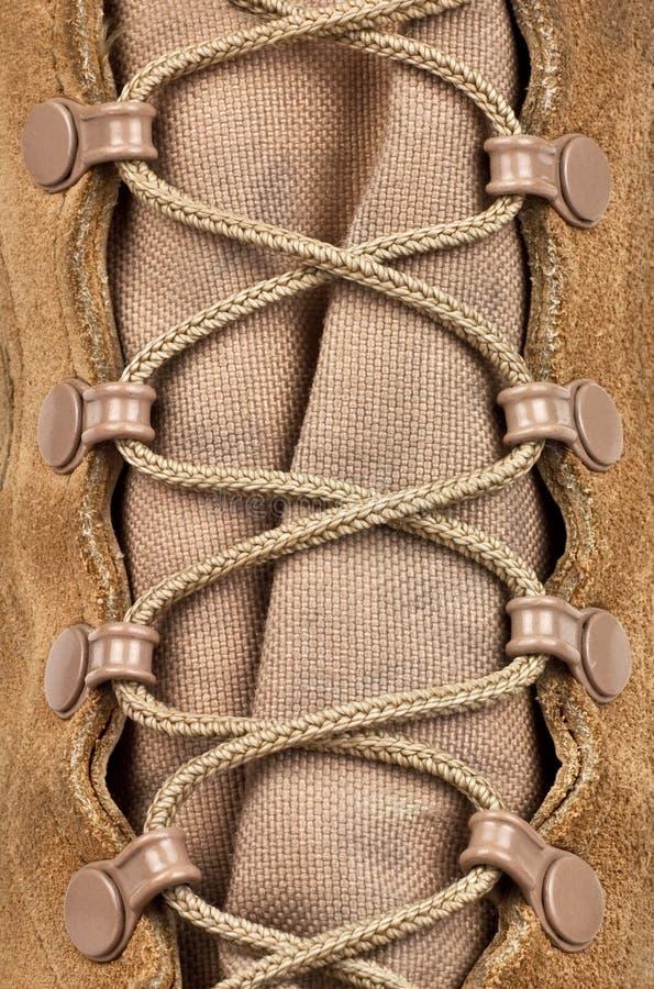 Sznurowanie na wojsko butach zdjęcie royalty free
