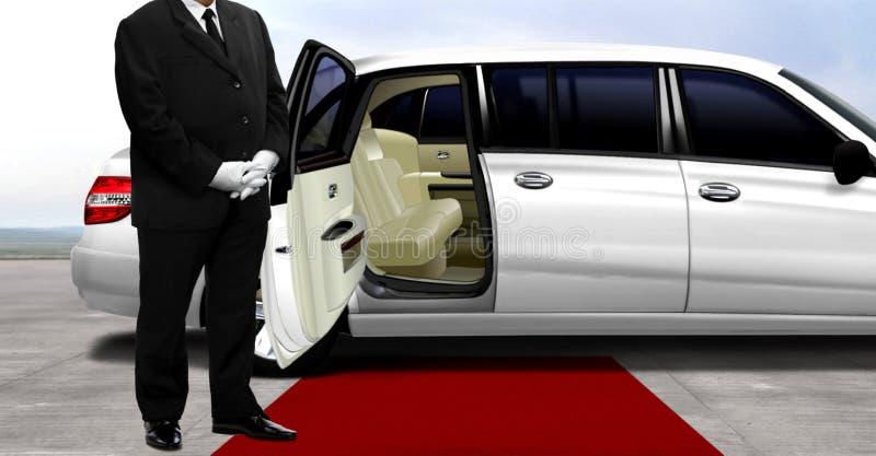 Szofera czekanie dla pasażera obraz royalty free