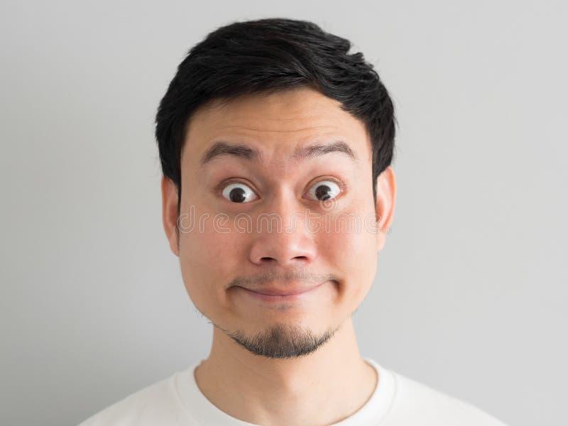 Szok twarz mężczyzna głowy strzał obrazy stock