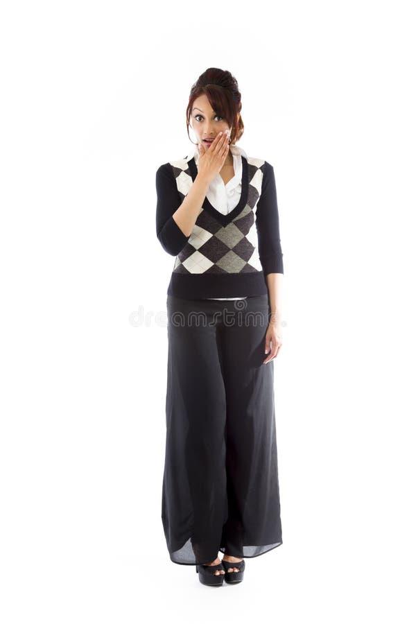 Download Szokująca Indiańska Kobieta Z Oddawał Usta Odizolowywającego Na Białym Tle Obraz Stock - Obraz złożonej z spodnia, biały: 41951013
