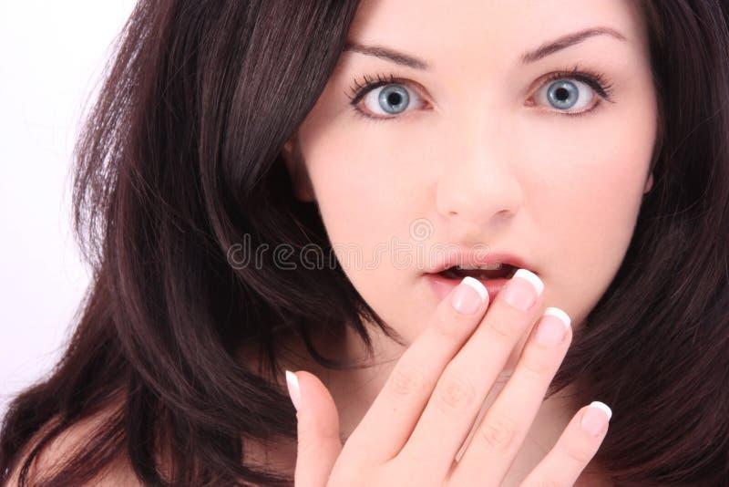 szokująca kobieta zdjęcie stock