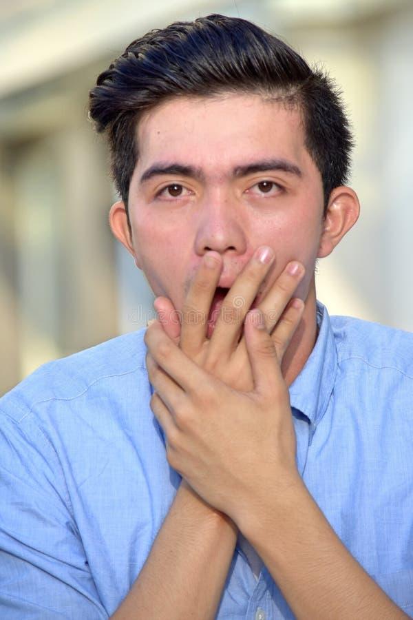 Szokująca Męska osoba zdjęcie stock