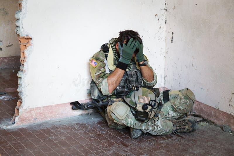 Szokujący Amerykański żołnierz zdjęcie royalty free