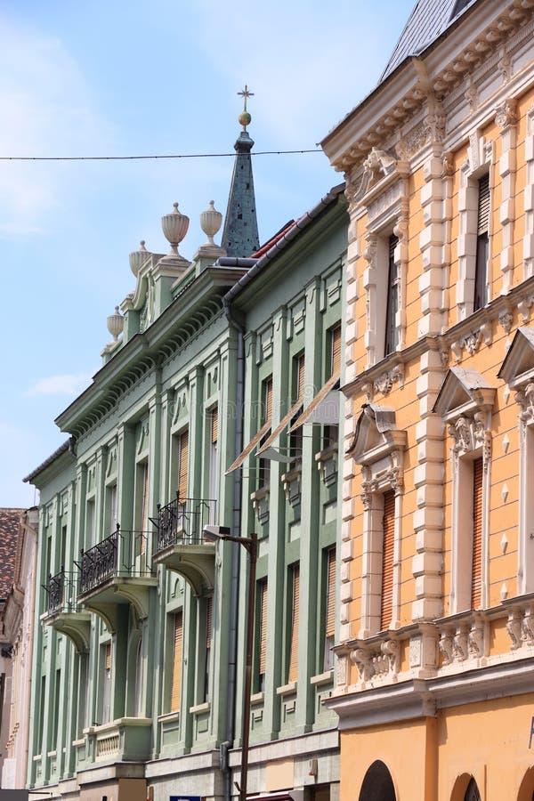 Szombathely city, Hungary. Szombathely, Hungary. City in Western Transdanubia region. Old town view royalty free stock photography