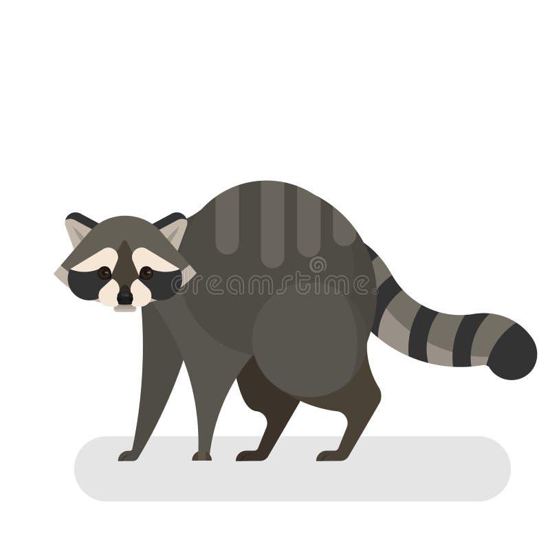 Szopowy zwierzę Dzika istota z popielatym futerkiem i czernią ilustracji
