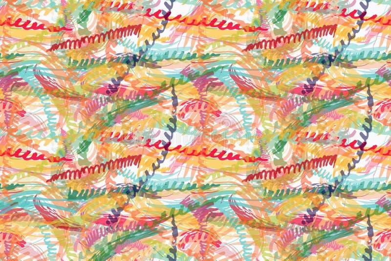 Szorstcy szczotkarscy kolorowi zygzag paski ilustracji