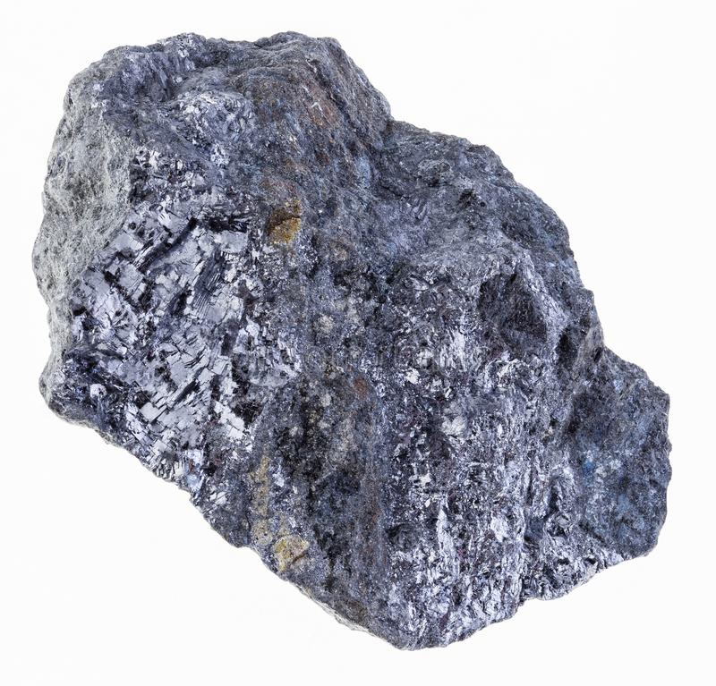 szorstka galena z chalkopiryt żyłą (galenite) zdjęcia stock
