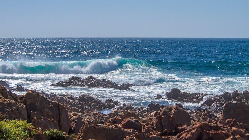 Szorstka linia brzegowa w Margaret rzece, zachodnia australia zdjęcia royalty free