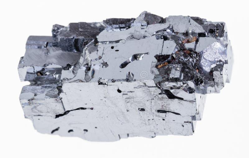 szorstki galena kryształ na bielu (galenite) zdjęcie stock