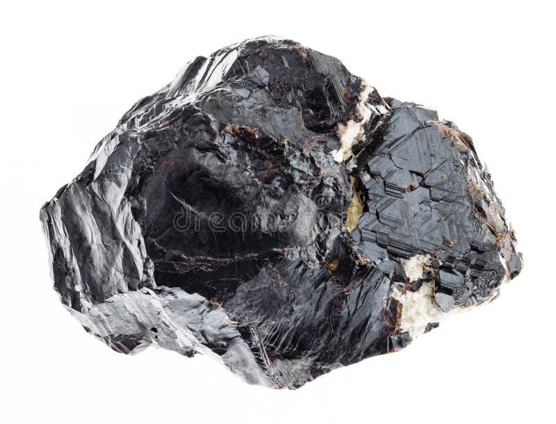szorstki sphalerite kamień na bielu (cynkowy blende) zdjęcie royalty free