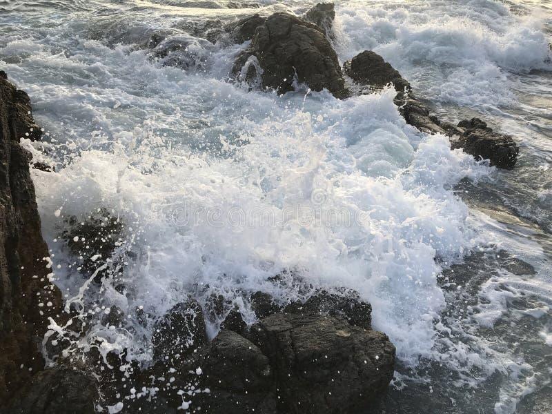 Szorstkie nabrzeżne wody zdjęcie stock