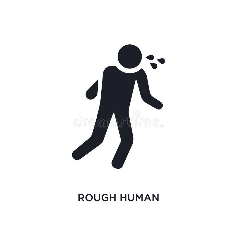 szorstkiej istoty ludzkiej odosobniona ikona prosta element ilustracja od uczucia pojęcia ikon szorstki ludzki editable logo znak royalty ilustracja