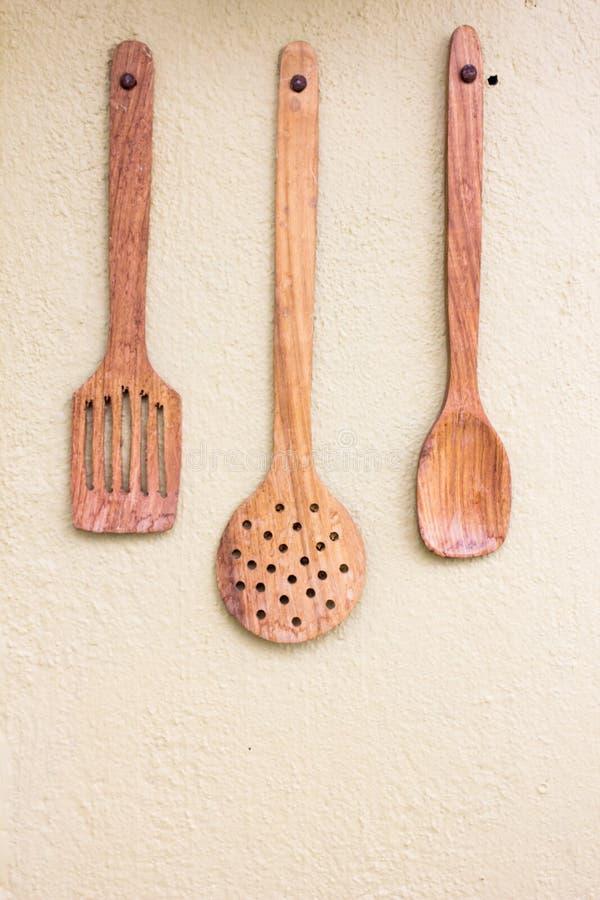 Szpachelka, kopyści kuchni narzędzie na betonowym tle obraz stock