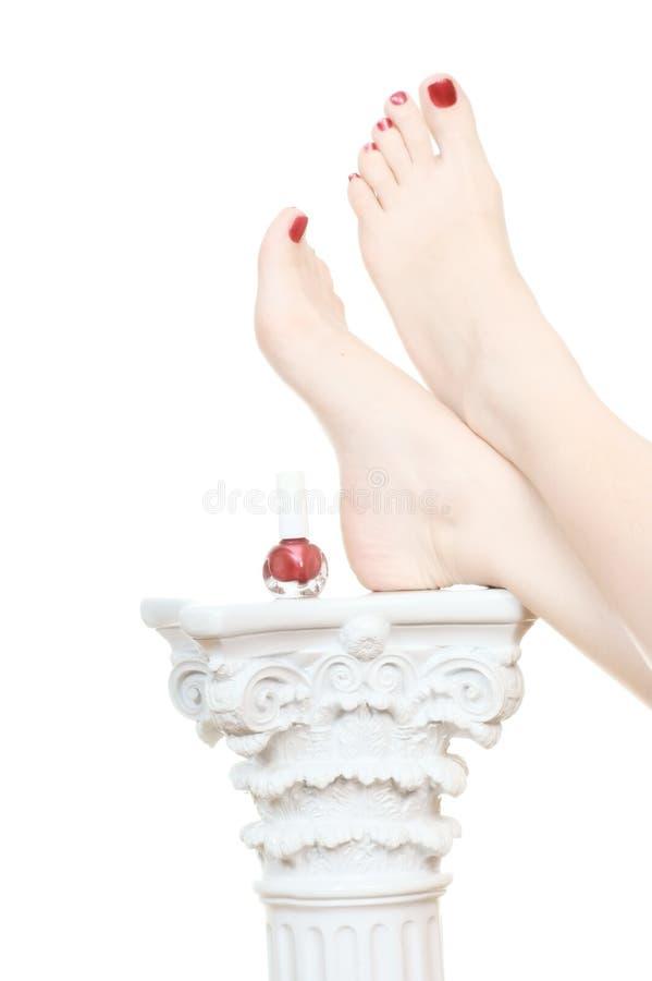 szpaltowa stopa relaksuje kobiety obraz royalty free