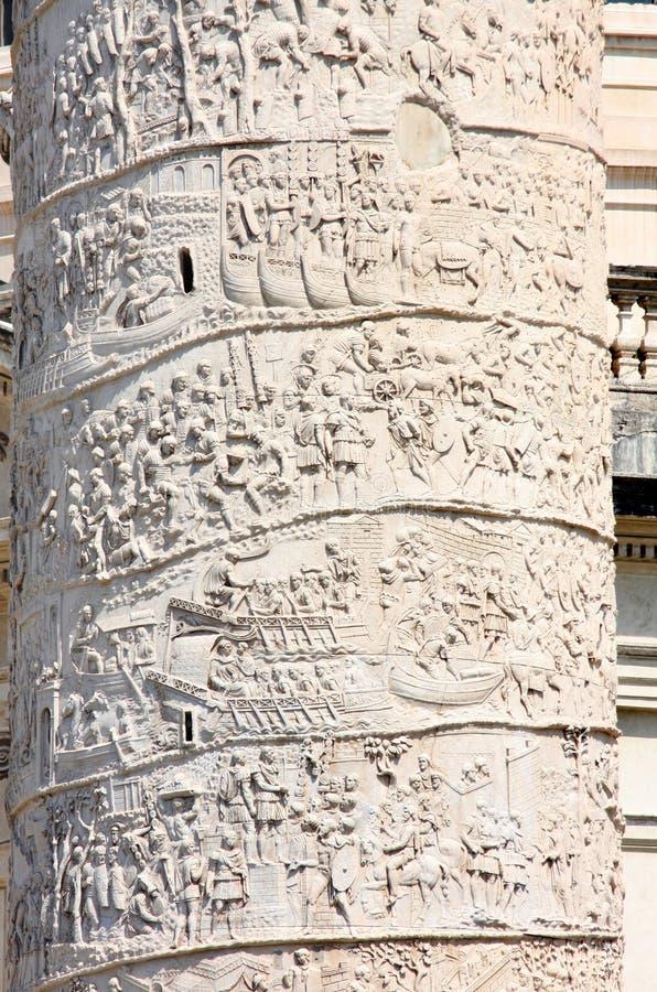 szpaltowy Italy piazza Rome s trajan venezia zdjęcie royalty free