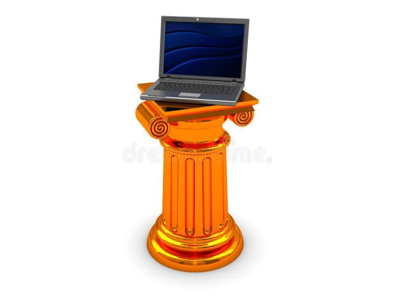 szpaltowy laptop ilustracja wektor