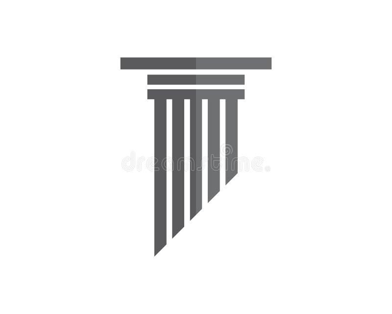 szpaltowy logo szablonu projekt royalty ilustracja