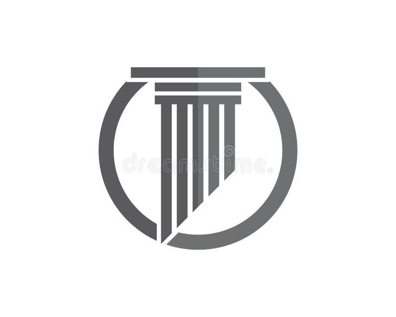 szpaltowy logo szablonu projekt ilustracji