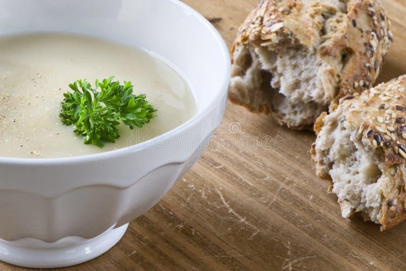 szparagowa miskę zupy zdjęcie stock