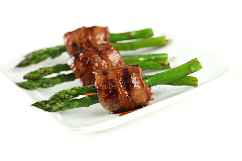 szparagowy wołowiny zbliżenia rolki teriyaki zdjęcie royalty free