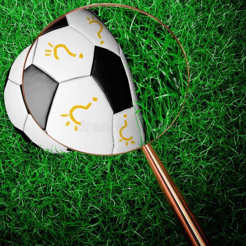 Szpieguje futbol z magnifier royalty ilustracja