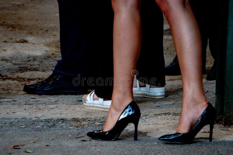 Szpilek nóg kobiety obrazy royalty free