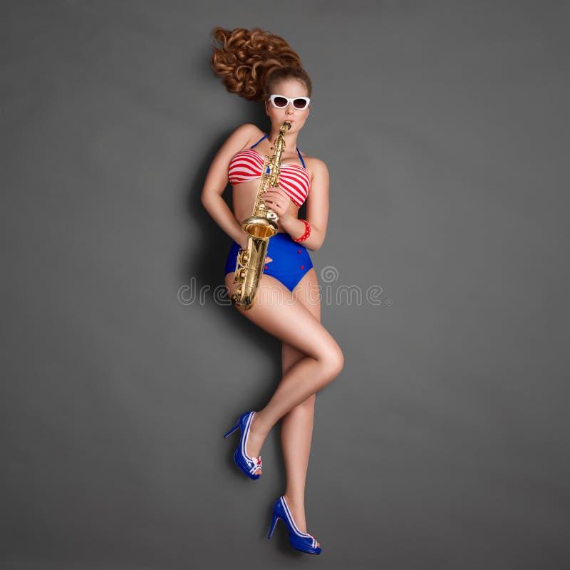 Szpilka i jazz fotografia royalty free