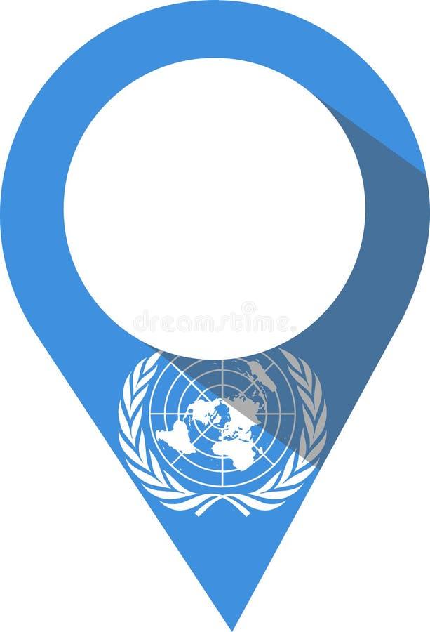 Szpilka w colour Narody Zjednoczone flaga royalty ilustracja