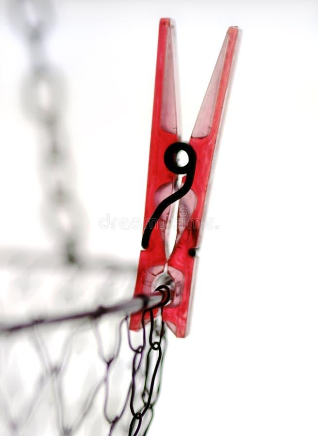szpilki odzieżowej czerwone. zdjęcie royalty free