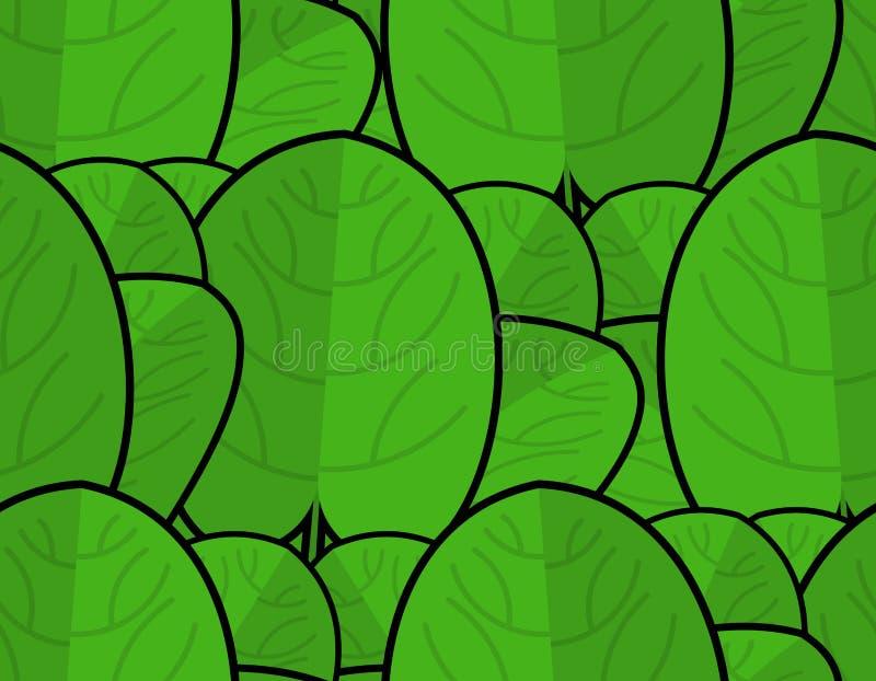 Szpinak tekstura Świeży zielony ornament zielona tło sałata ilustracji