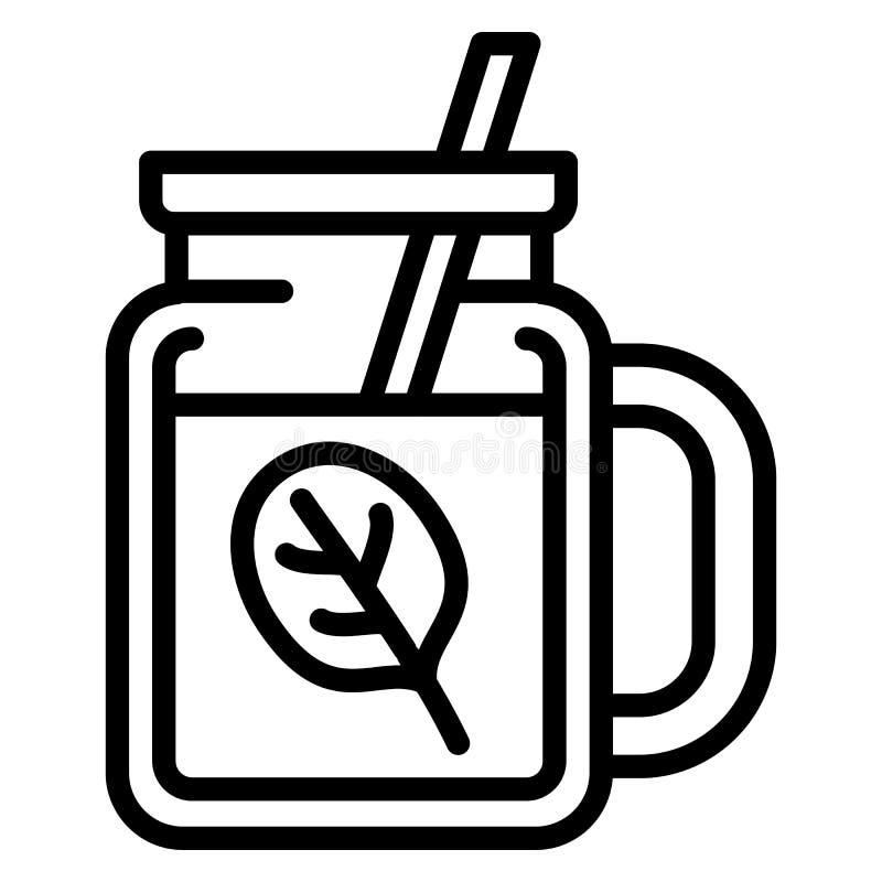 Szpinaka smoothie ikona, konturu styl royalty ilustracja