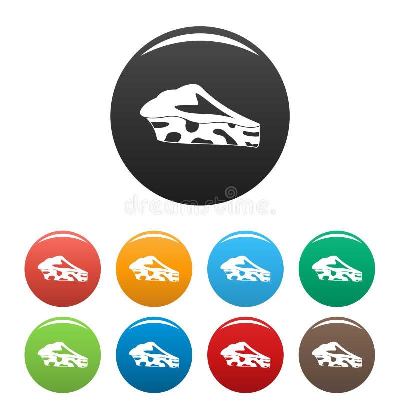 Szpinaka tortowe ikony ustawiający kolor ilustracji