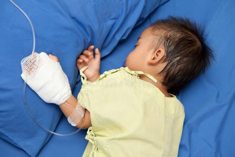 Szpital przyznaje jako dziecko pacjent zdjęcia royalty free
