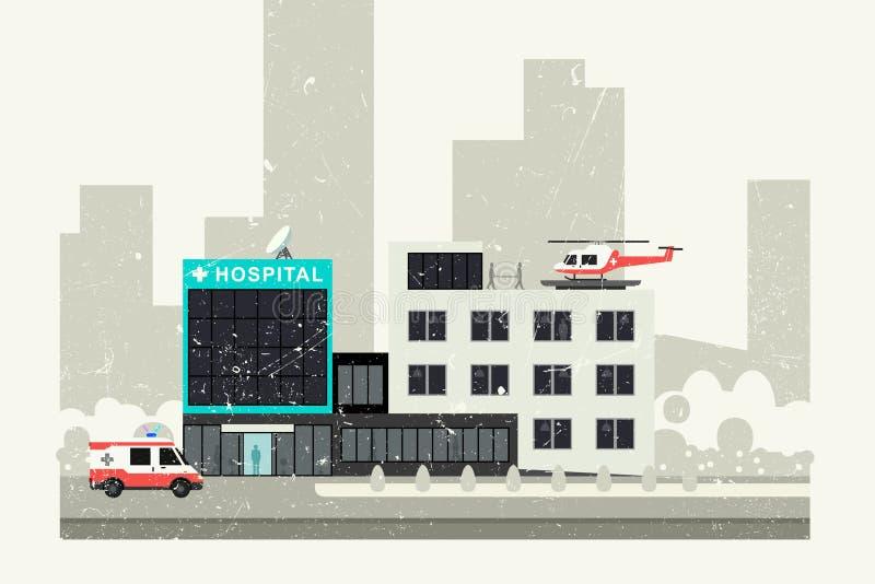 Szpitalna grunge ilustracja royalty ilustracja